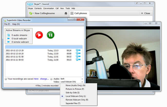 supertintin skype video call recorder gratuit