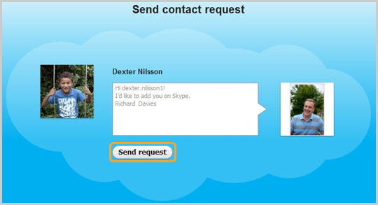 Send Contact Request Skype