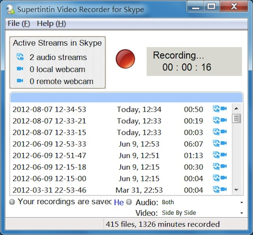 Skype Facebook Supertintin