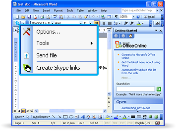 Skype Office Toolbar