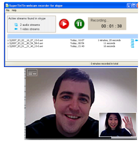 Records both audio and video in all kinds of skype calls and voice mails. well known Screen Shot